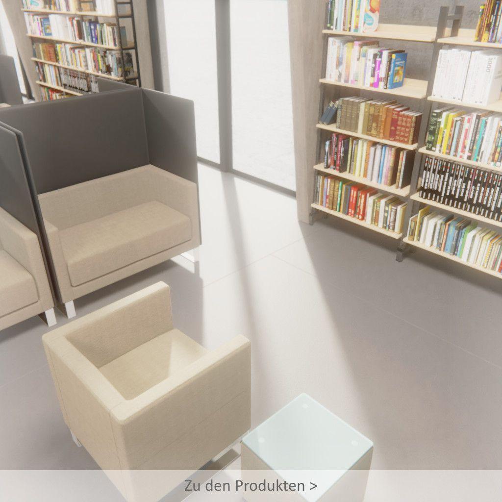 Modere Bibliotheksmöbel