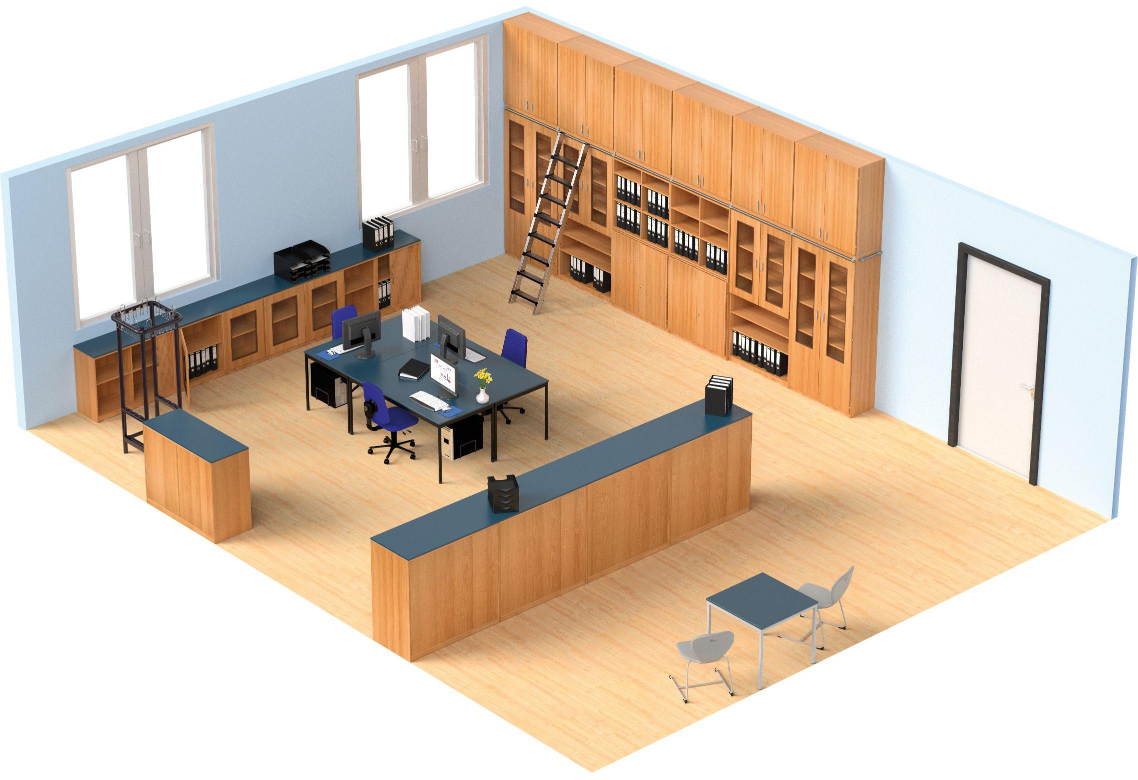 Raumplanung eines Sekretariats