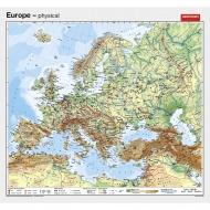 Wandkarte Europa, physisch, englisch, 155x140 cm