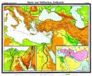 Wandkarte Biblische Länder, 180 x 150 cm,