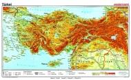 Wandkarte Türkei, physisch, 160x100 cm,