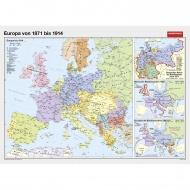 Wandkarte Europa von 1871 bis 1914, 208 x 140 cm,