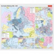Wandkarte Der zweite Weltkrieg von 1939 bis 1945, 220 x 190 cm,