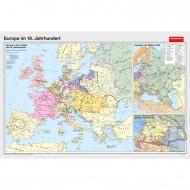 Wandkarte Europa im 18. Jahrhundert, 200 x 140 cm,