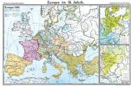 Wandkarte Europa im 16. Jahrhundert, 200 x 140 cm,