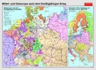 Wandkarte Mittel- und Osteuropa nach dem 30-jährigen Krieg, 200 x 140 cm,