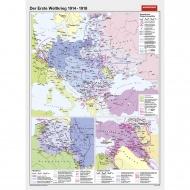 Wandkarte Der erste Weltkrieg 1914 bis 1918, 147 x 200 cm,