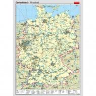 Wandkarte Deutschland, Wirtschaft, 140x205cm,