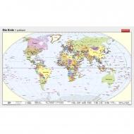 Wandkarte Die Erde, politisch, 250x150 cm,