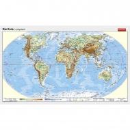 Wandkarte Die Erde, physisch, 250x130 cm,