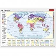 Wandkarte Die Erde, Klimazonen, 200x145cm
