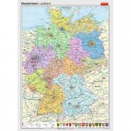 Wandkarte Deutschland, politisch, 140x210 cm,