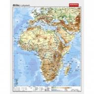 Wandkarte Afrika, phys.(Vorderseite), polit.(Rückseite), 130x165cm