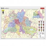 Wandkarte Berlin, phys.(Vorderseite), polit.(Rückseite), 202x147cm