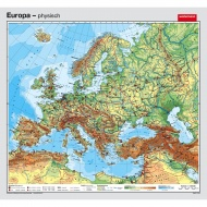 Wandkarte Europa, phys.(Vorderseite), polit.(Rückseite), 155x144cm