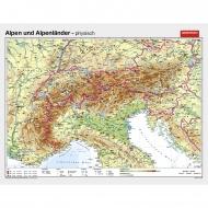 Wandkarte Alpen & Alpenländer,  phys.(Vorderseite), polit.(Rückseite), 181x140 cm
