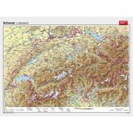 Wandkarte Schweiz, physisch, 193x144cm,