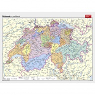 Wandkarte Schweiz, politisch, 193x144cm,