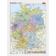 Wandkarte Deutschland, polit.(Vorderseite), stumm (Rückseite), 105x141cm,