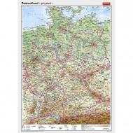 Wandkarte Deutschland, physisch, 147x202 cm,