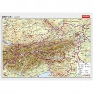 Wandkarte Österreich, physisch, 202x142cm,
