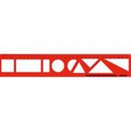 Zeichenlineal, 30 cm-Einteilung