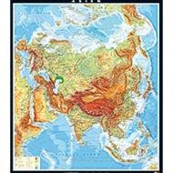 Wandkarte Asien, physisch, 196x228 cm,