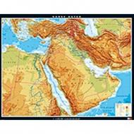 Wandkarte Naher Osten, physisch 203x158 cm,