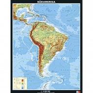 Wandkarte Südamerika physisch, 153x202 cm, Maßstab: 1:6 000 000