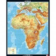 Wandkarte Afrika, physisch, 157x206 cm,