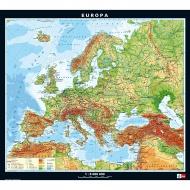 Wandkarte Europa, phys.(Vorderseite), polit.(Rückseite), 130x115cm,