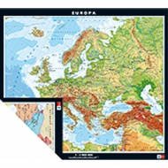 Wandkarte Europa, physisch/politisch, 158x141 cm,