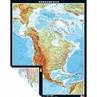 Wandkarte Nordamerika, physisch/politisch, 135x174 cm,