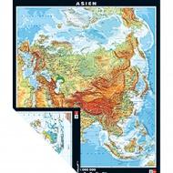 Wandkarte Asien, physisch/politisch, 147x176 cm,