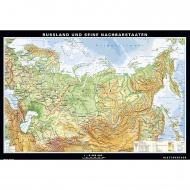 Wandkarte Russland, physisch/politisch, 154x104 cm,