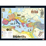 Wandkarte Römisches Imperium, 158x118 cm, Maßstab: 1:3 500 000