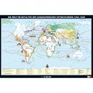 Wandkarte Die Welt im Zeitalter der geogr. Entdeckungen 1492-1648, 188x127 cm,