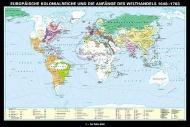 Wandkarte Europäische Kolonialreiche, Anfänge des Welthandels, 188x127 cm,