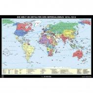 Wandkarte Die Welt im Zeitalter des Imperialismus, 1870-1914, 188x127 cm,