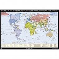 Wandkarte Die Welt 1945-1990, Zeit der Blockbildung...., 188x127 cm,
