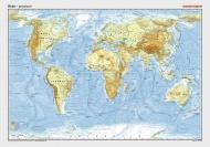 Posterkarte Erde physisch 1 : 32 000 000.