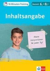 10-Min-Training Deutsch Inhaltsangabe 6-8