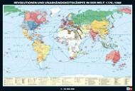 Wandkarte Revolution und Unabhängigkeitskämpfe in der Welt, 1776-1860, 188x127 cm,