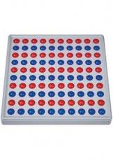 Abaco 100, 10/10 Kugeln parallel, rot/blau
