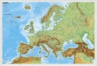 Wandkarte Europa, physisch Kleinformat ohne Metallstäbe