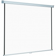 Rollo-Zug-Leinwand 200x200 cm (Format 1:1-OH Projektion) Tuch: Datalux S,