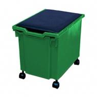 aufbewahrungsbox 30 cm hoch mit rollen ohne deckel blau g nstig online kaufen. Black Bedroom Furniture Sets. Home Design Ideas