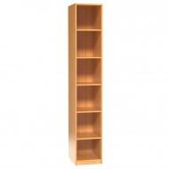 Regal, 226 cm hoch,  45x60 cm (B/T), 5 Böden, 6OH