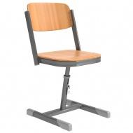 Schülerstuhl, geschlossener Sitzträger, I-Fuß, höhenverstellbar von 38-50 cm,