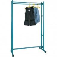 Garderobenständer, feststehend, Höhe 190 cm, 180 cm breit, mit Kleiderstange,